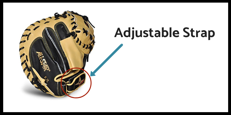 Adjustable Strap Feature for Slowpitch gloves