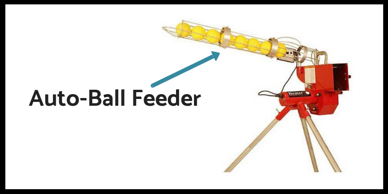 Auto ball feeding in pitching machine