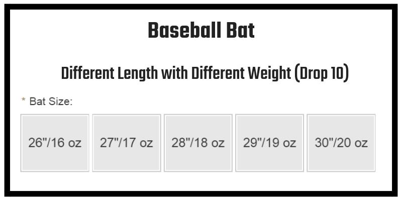 Baseball Bats of Drop 10