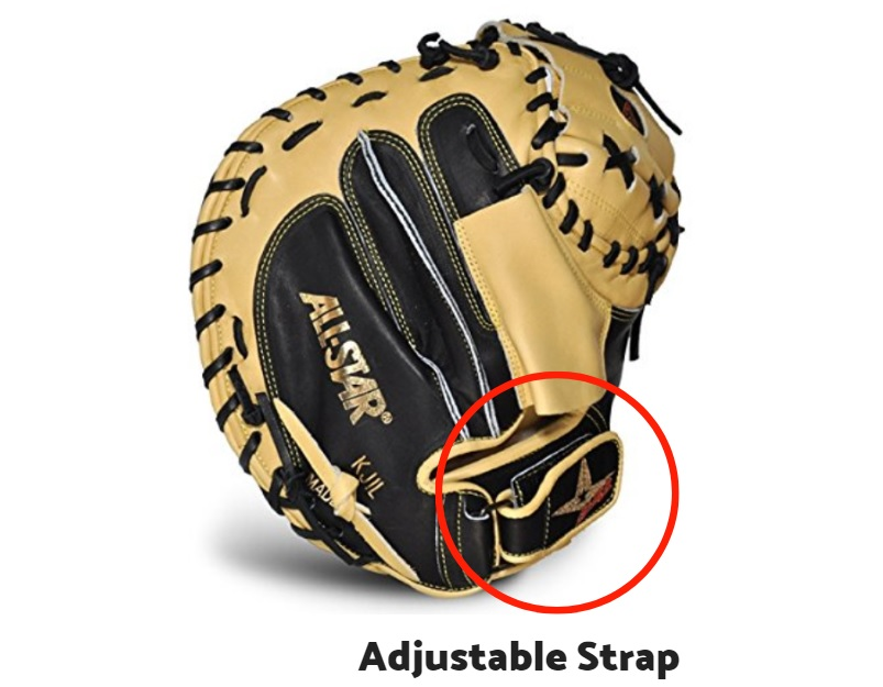 Catcher's Mitt with adjustable strap