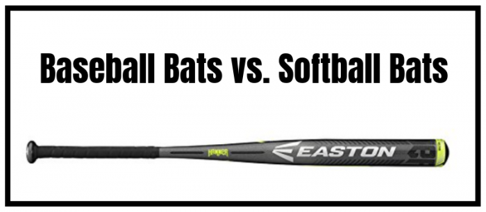 Difference between baseball and softball bat
