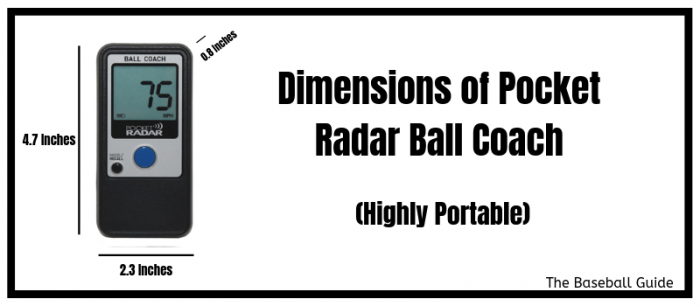 Ball Coach Radar Gun Portability