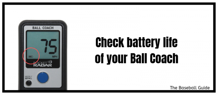 Battery Backup of Ball Coach Radar Gun
