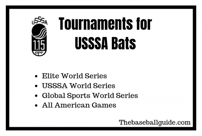 Tournaments for USSSA Bats
