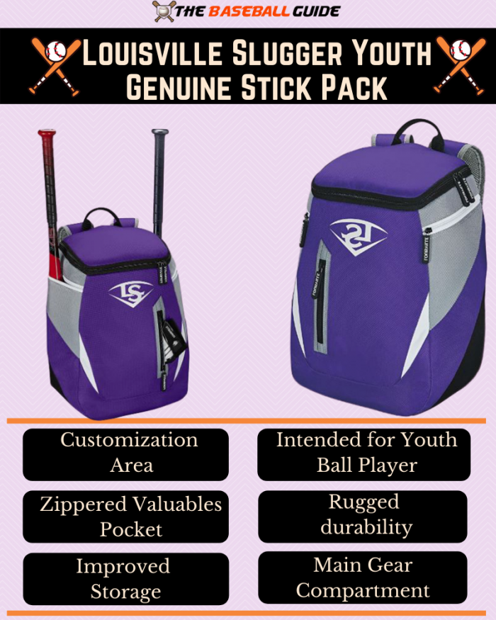 Backpack to carry baseball bats
