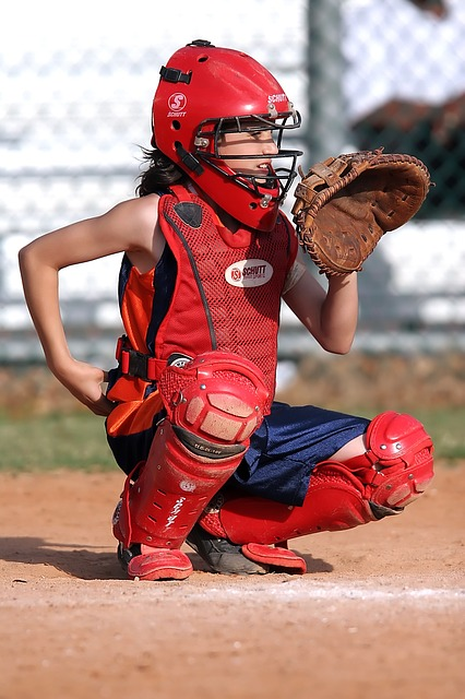 fastpitch catcher with softball gloves