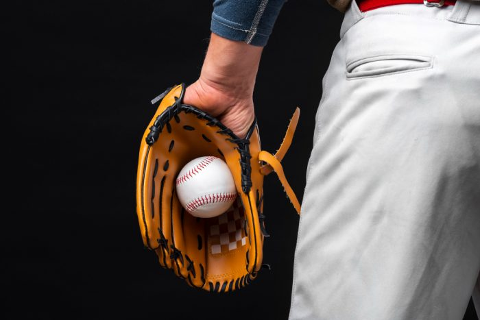 break in baseball glove by practicing