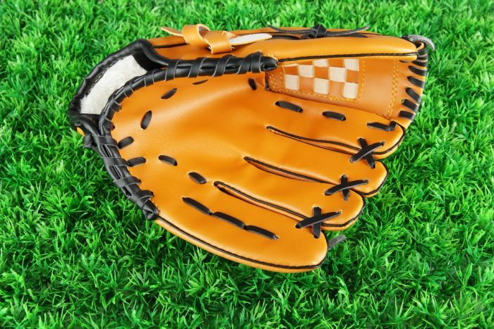 basket web baseball glove for outfield players